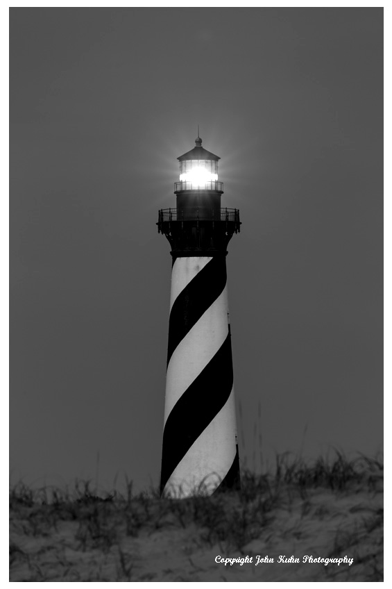 Cape Hatteras Light in Black & White