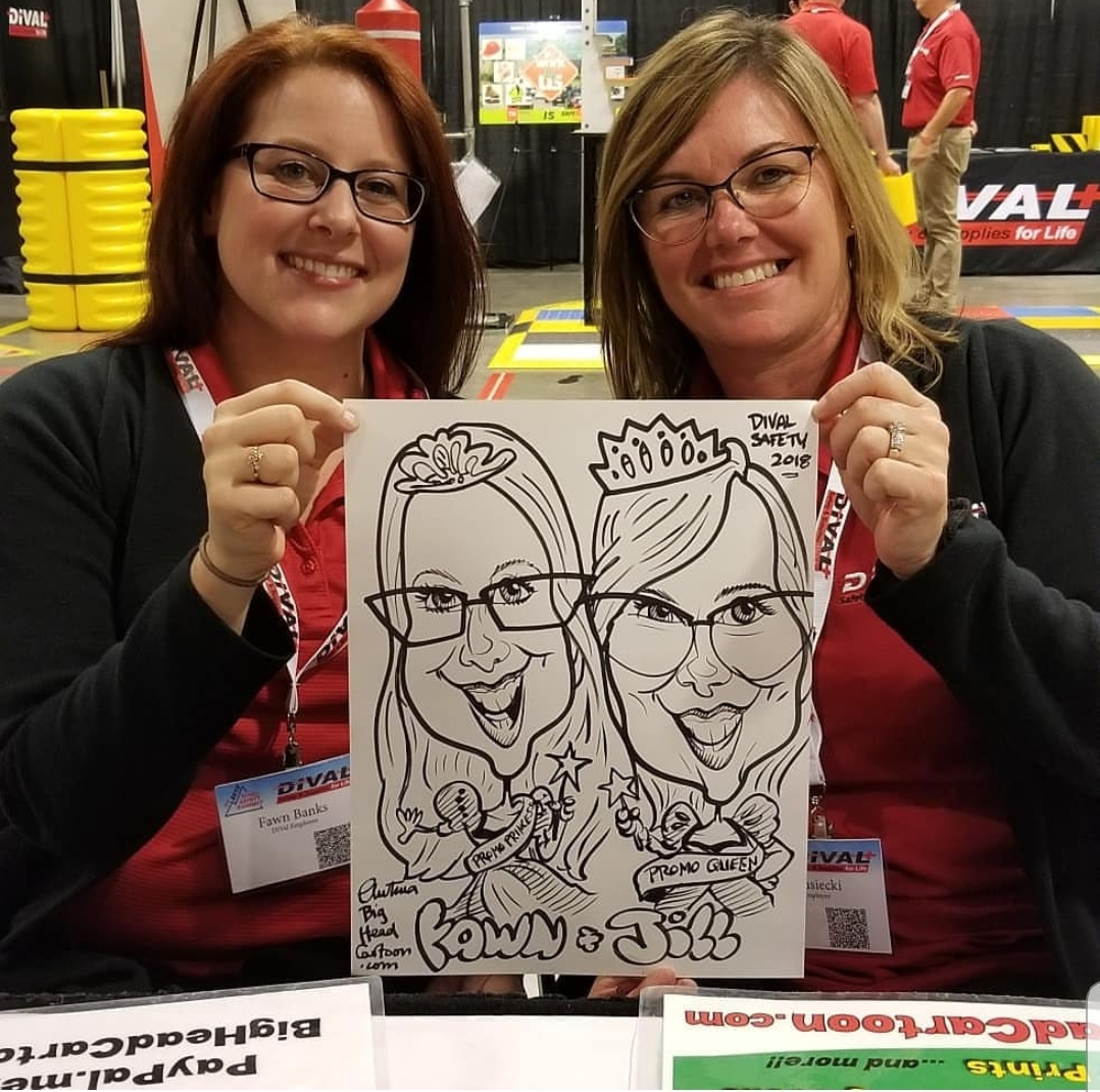 Nashville Corporate Team Building Big Head Cartoon