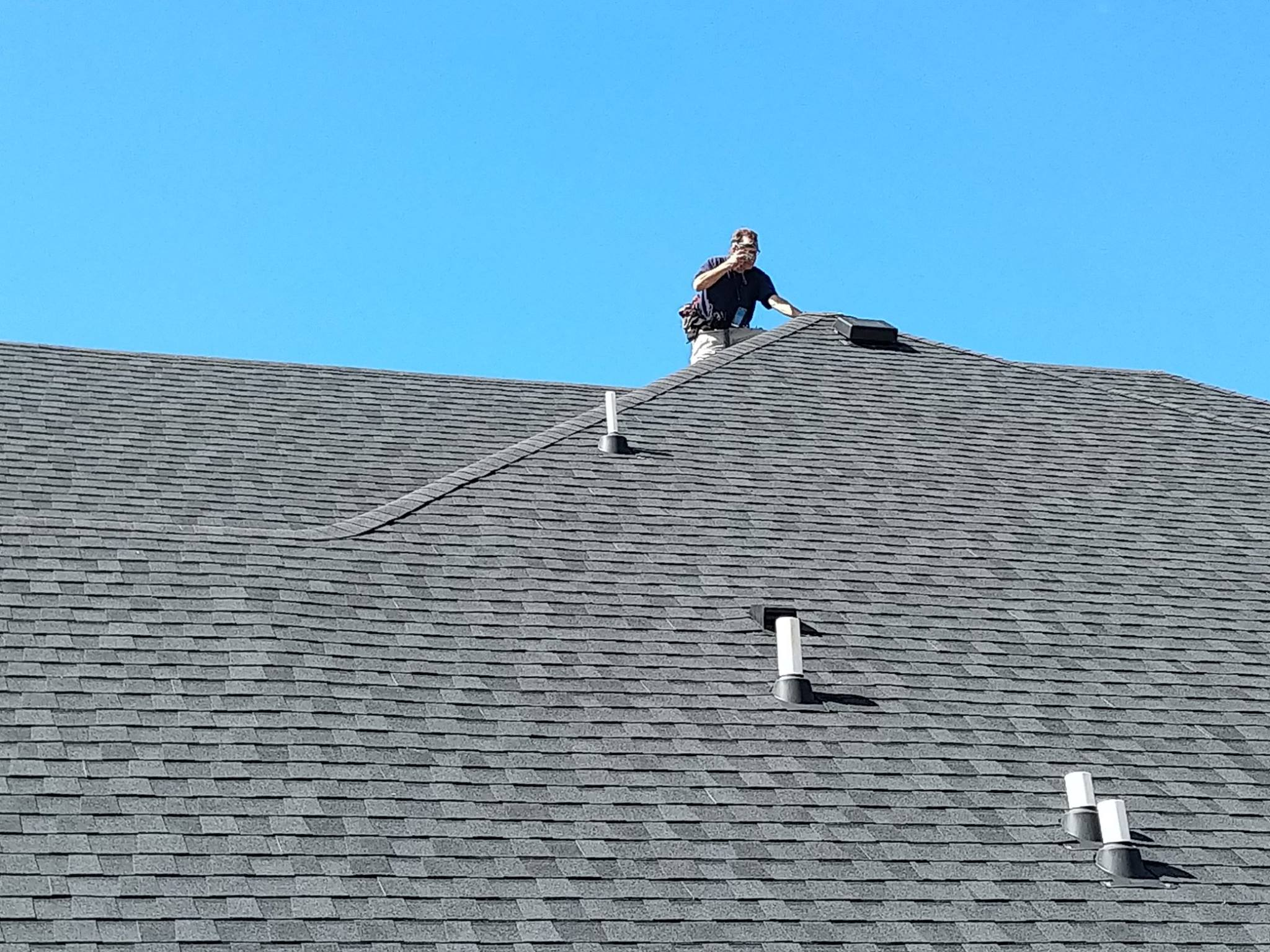 When Climbing Steep Roofs