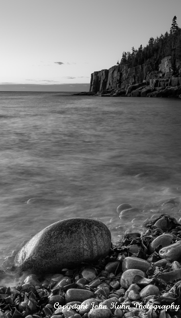 Boulder Beach in Black & White