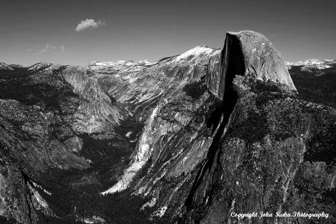 Half Dome And Cloud From Glacier Point
