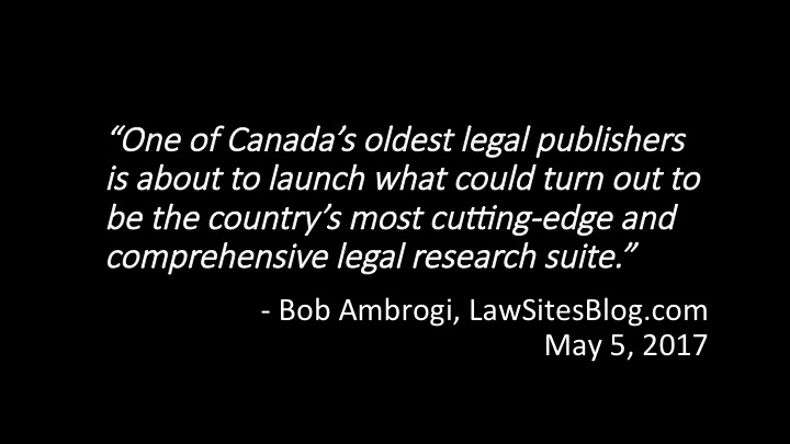 Restoring competitiveness to Canadian legal publishing