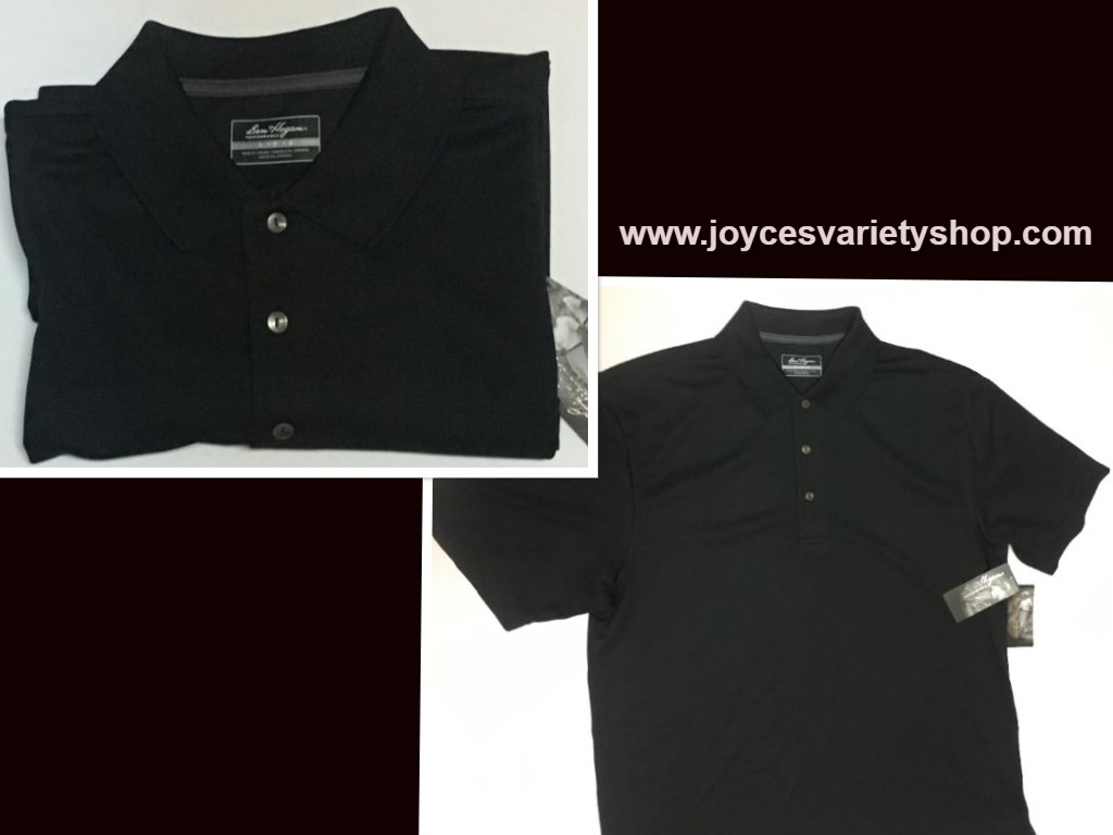 Ben Hogan Golf Performance Polo Shirt Caviar Black Various Sizes