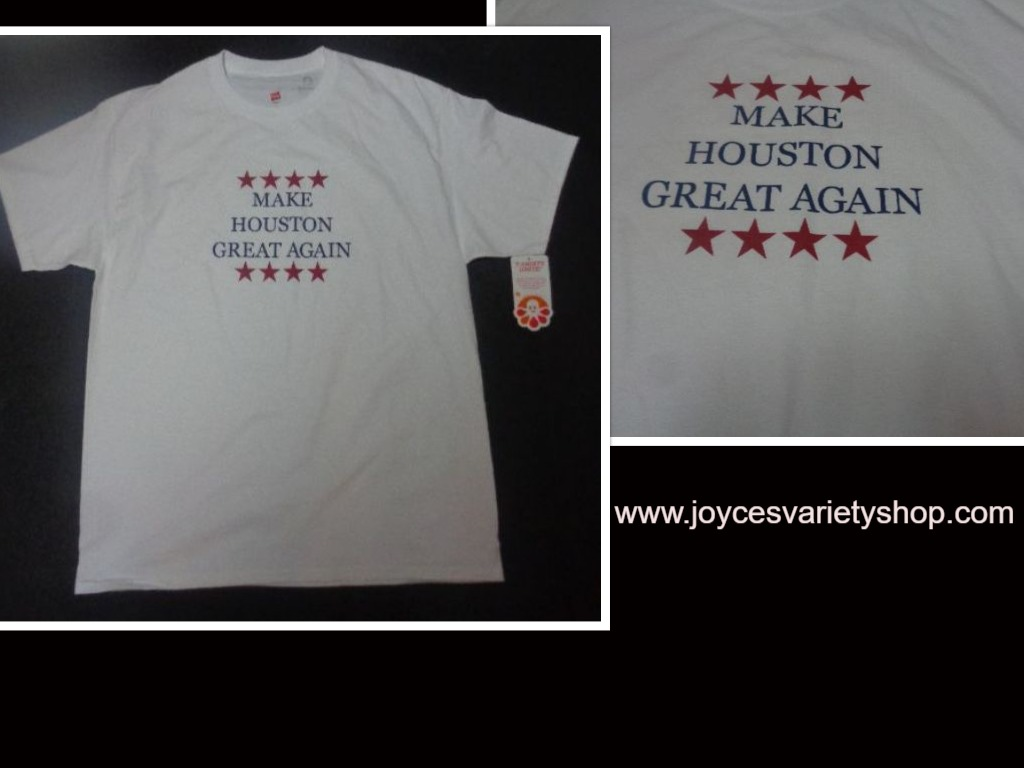 MAKE HOUSTON GREAT AGAIN T-Shirt NWT SZ Large Hanes