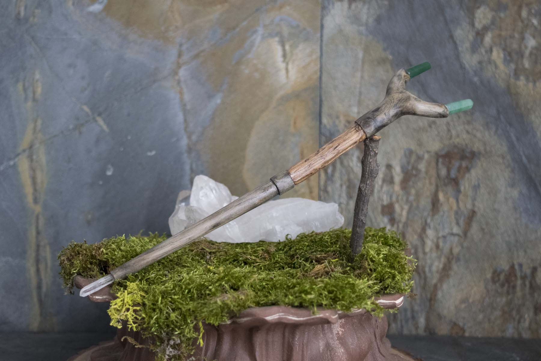 Crape Myrtle and Aventurine Wand