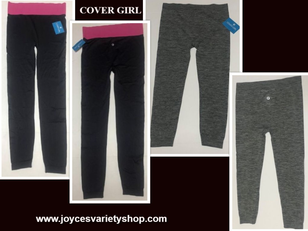 Cover Girl Athletic Work Out Jogging Leggings Bottoms Various Color Size Juniors