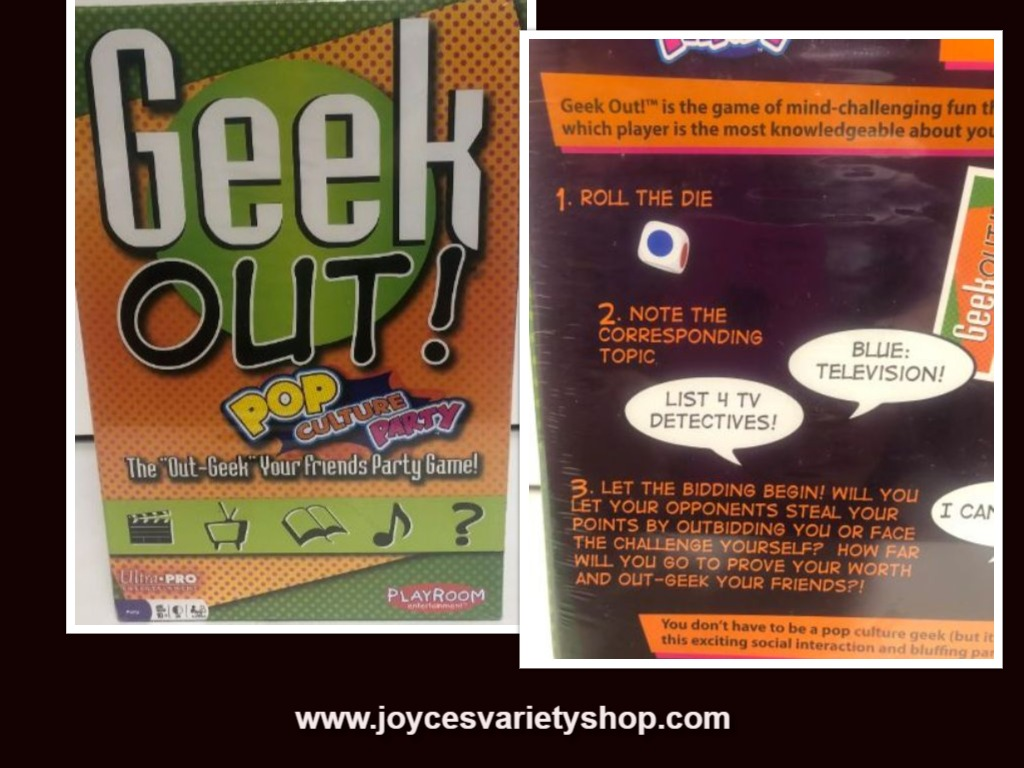 GEEK OUT! Party Board Game Pop Culture Party Age 10+ Two or More Players