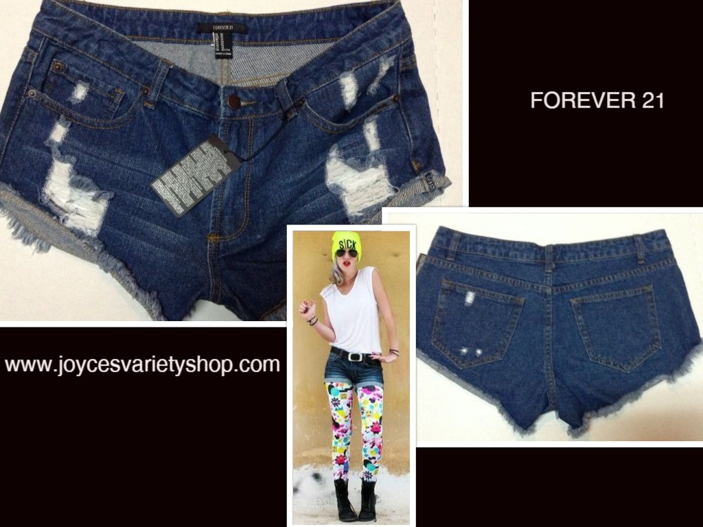 Forever 21 Girls Blue Jean Shorts