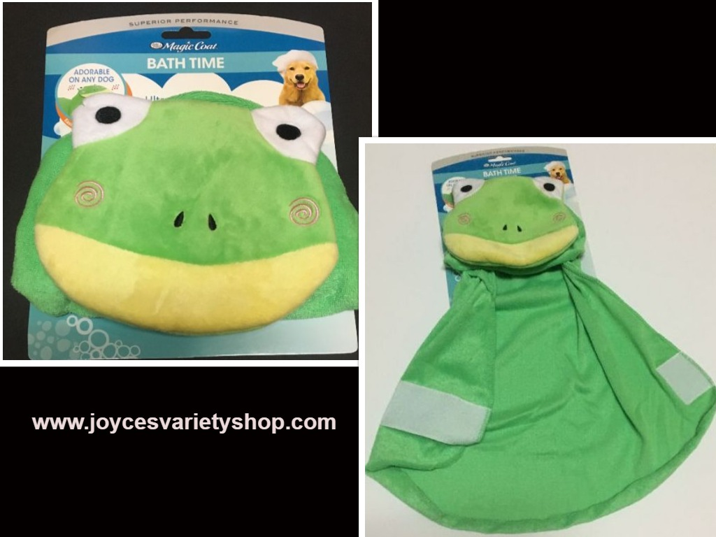 Dog Hoodie Bath Towel Ultra Soft Small/Medium Size Frog Green