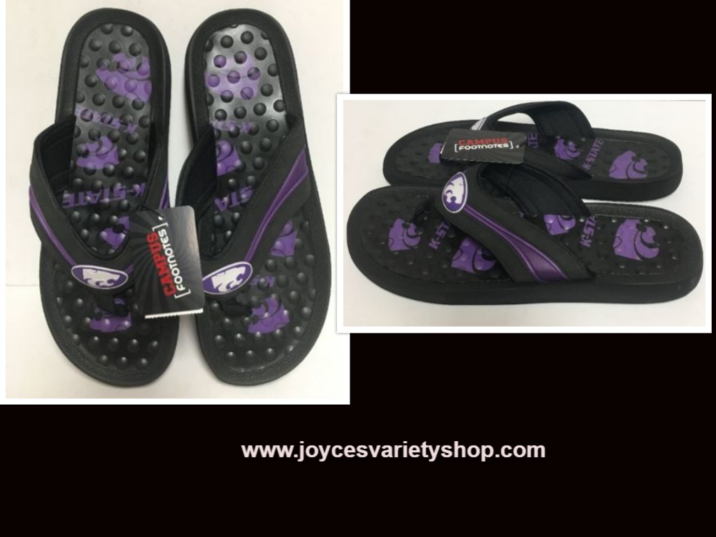 Kansas State Wildcats Sandals Shoe Men's Sz XL (13-14)