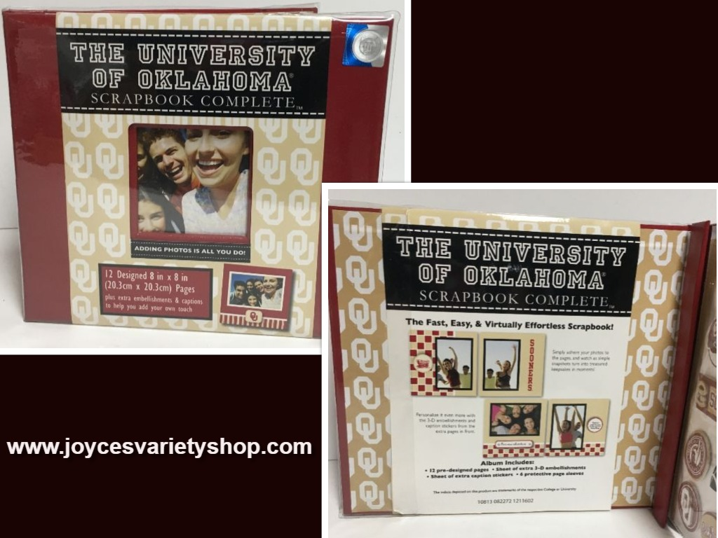 University of Oklahoma Complete Scrapbook NWT Fast Easy Collegiate Licensed