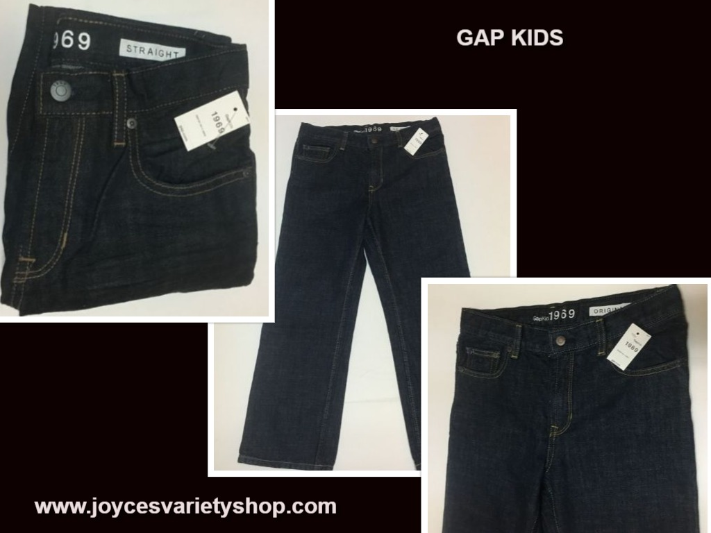 GAP KIDS Original Jeans Straight Loose Fit Sz 8 Husky Black