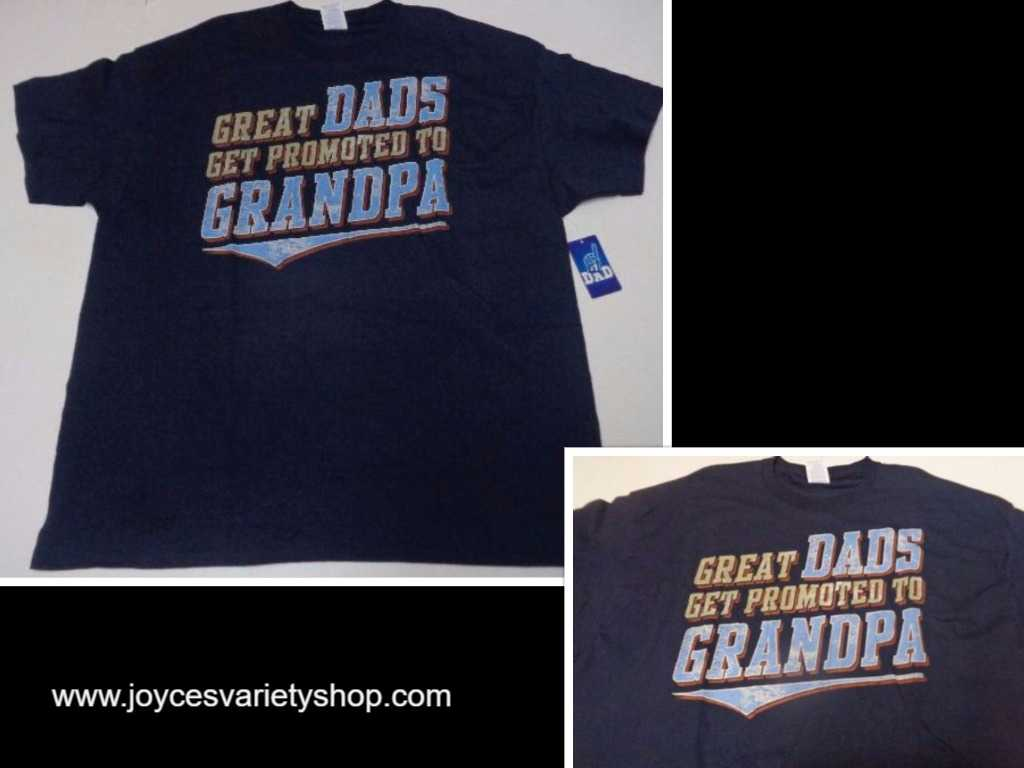 GREAT DADS GET PROMOTED TO GRANDPA NWT T-Shirt Many Sizes Gildan