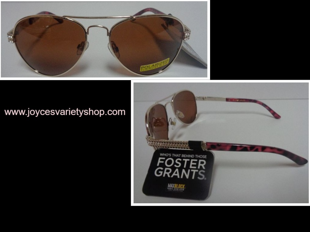 Foster Grant Polarized Sunglasses Gold Lens Metal