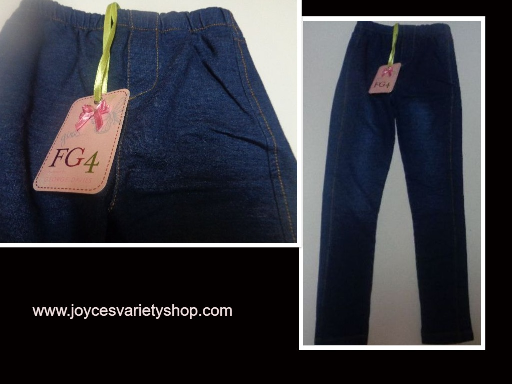 Girl's FG4 Lissy Jegging Youth Sz 7/8 NWT Blue Jean Designed by George Davies
