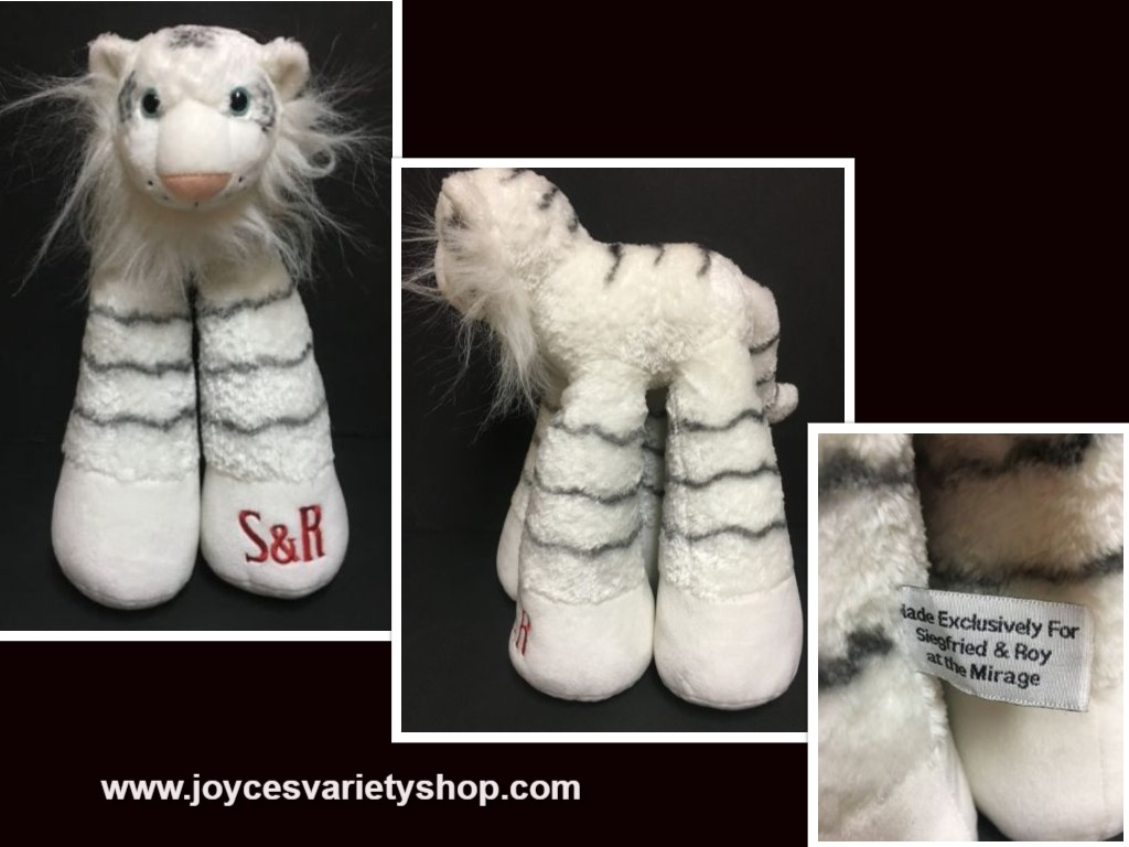 Siegfried & Roy WHITE TIGER Plush Mirage Las Vegas Long Legs 15""
