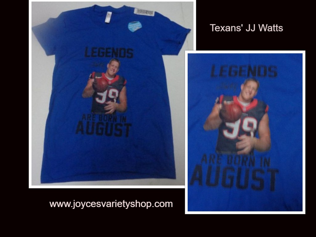Texans JJ Watt Girl's T-Shirt LEGENDS ARE BORN IN AUGUST