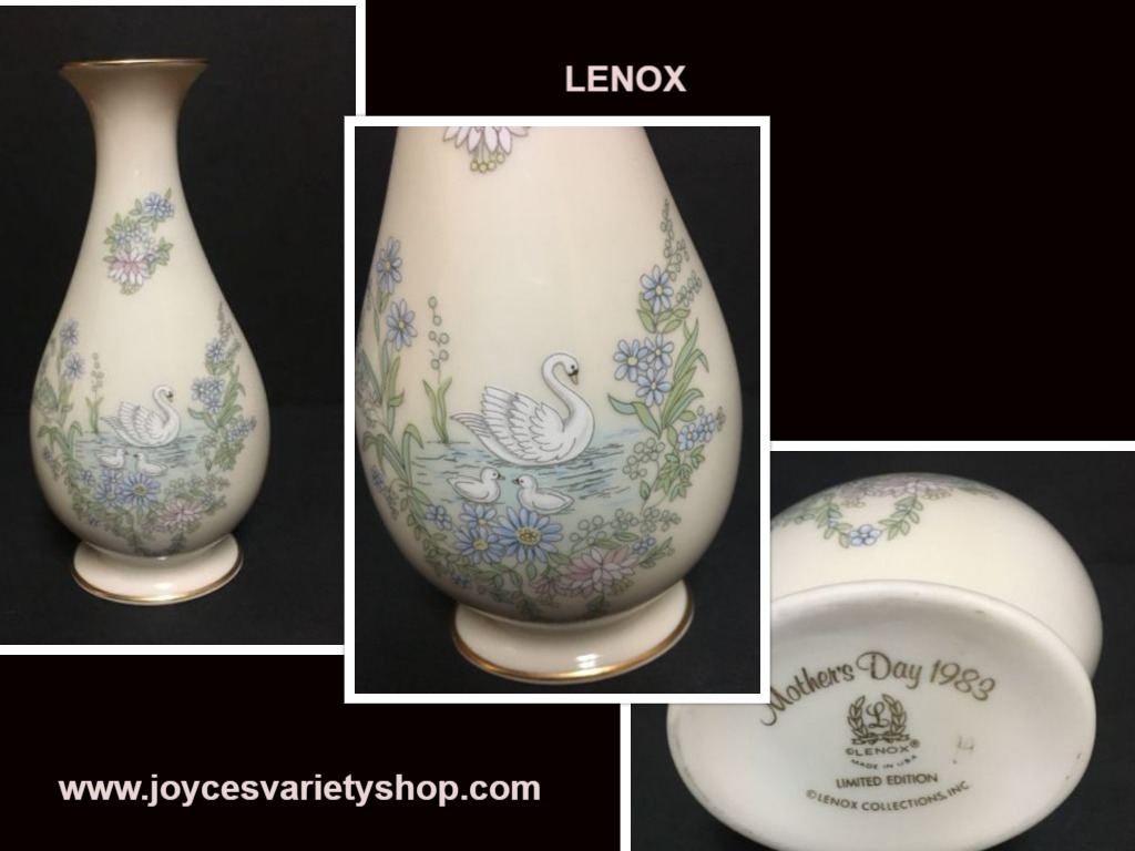 Lenox Mother's Day 1983 Swan Porcelain Vase Limited Edition 8""