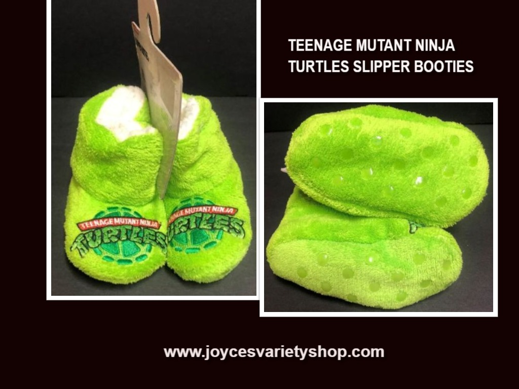 Nickelodeon Teenage Mutant Ninja Turtles Slipper Booties Toddler Sz 5-6