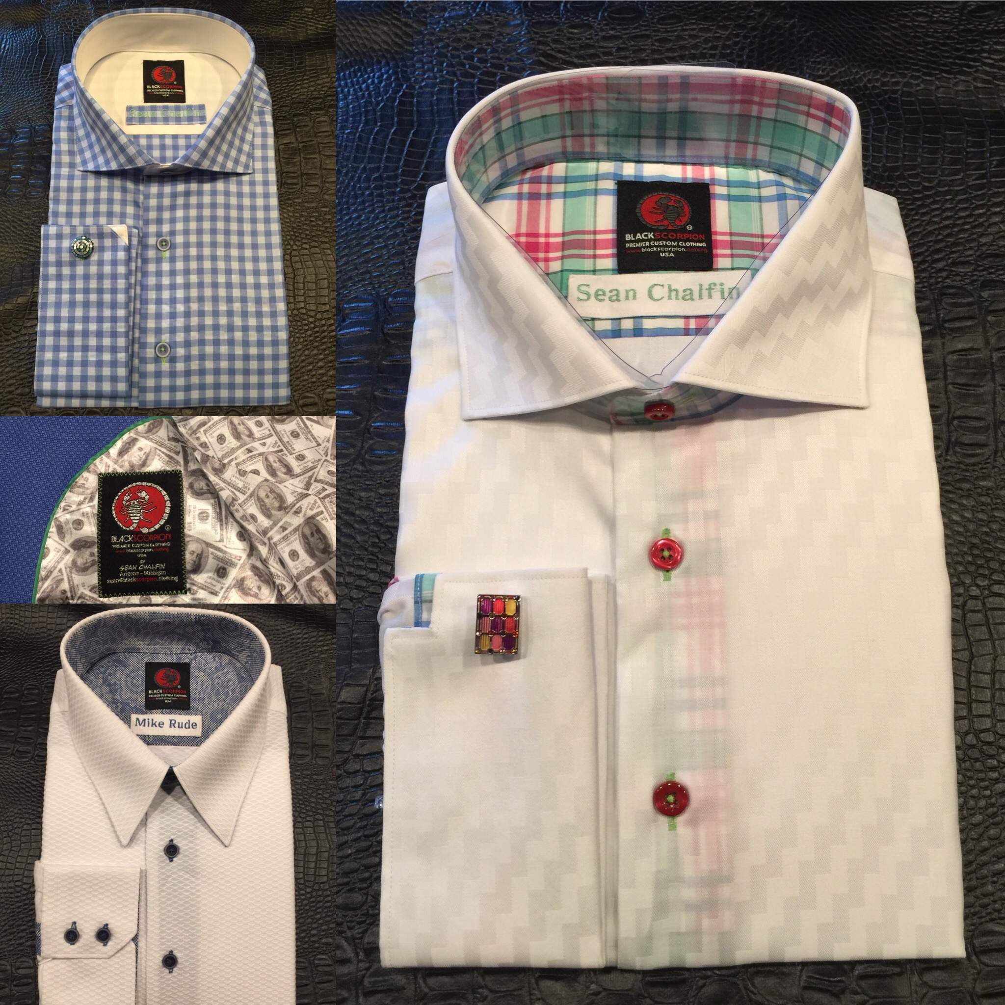 BlackScorpion custom french cuff shirt - Grand Rapids Custom Shirts and Suits, Midland Custom Shirts, Midland Custom suits