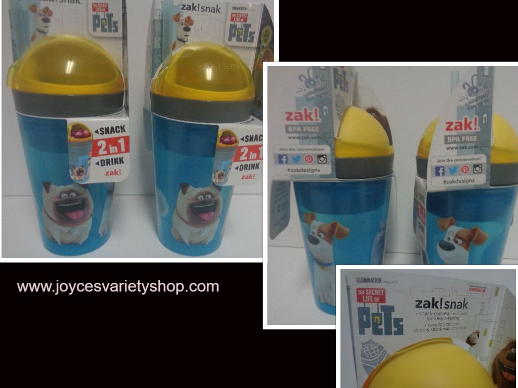ZAK Snack & Drink Cups NWT 10 oz BPA Free Lot of 2