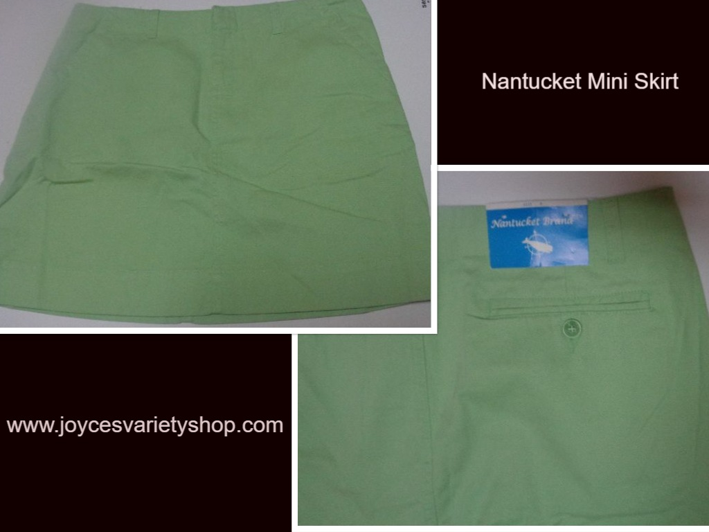 Nantucket Lime Green Mini Skirt SZ 8