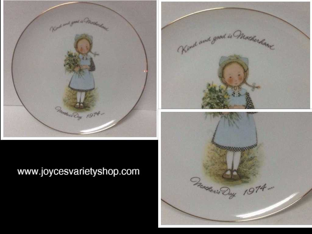 HOLLY HOBBIE Motherhood 1974 Commemorative Edition Porcelain Plate