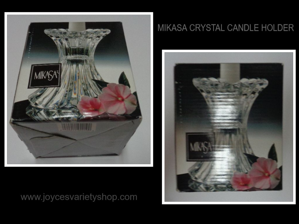 Mikasa Crystal Candle Holder NIB 5""
