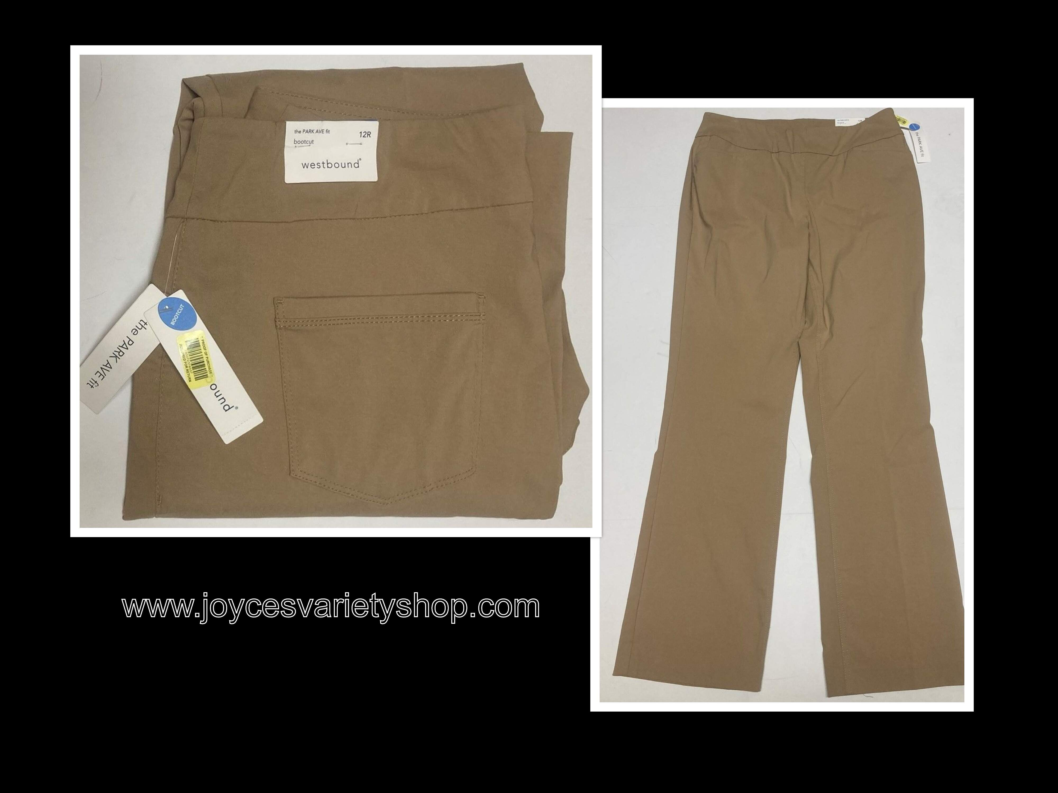 Women's Beige Pants Westbound Park Ave Fit Sz 12R Stretch Pull On