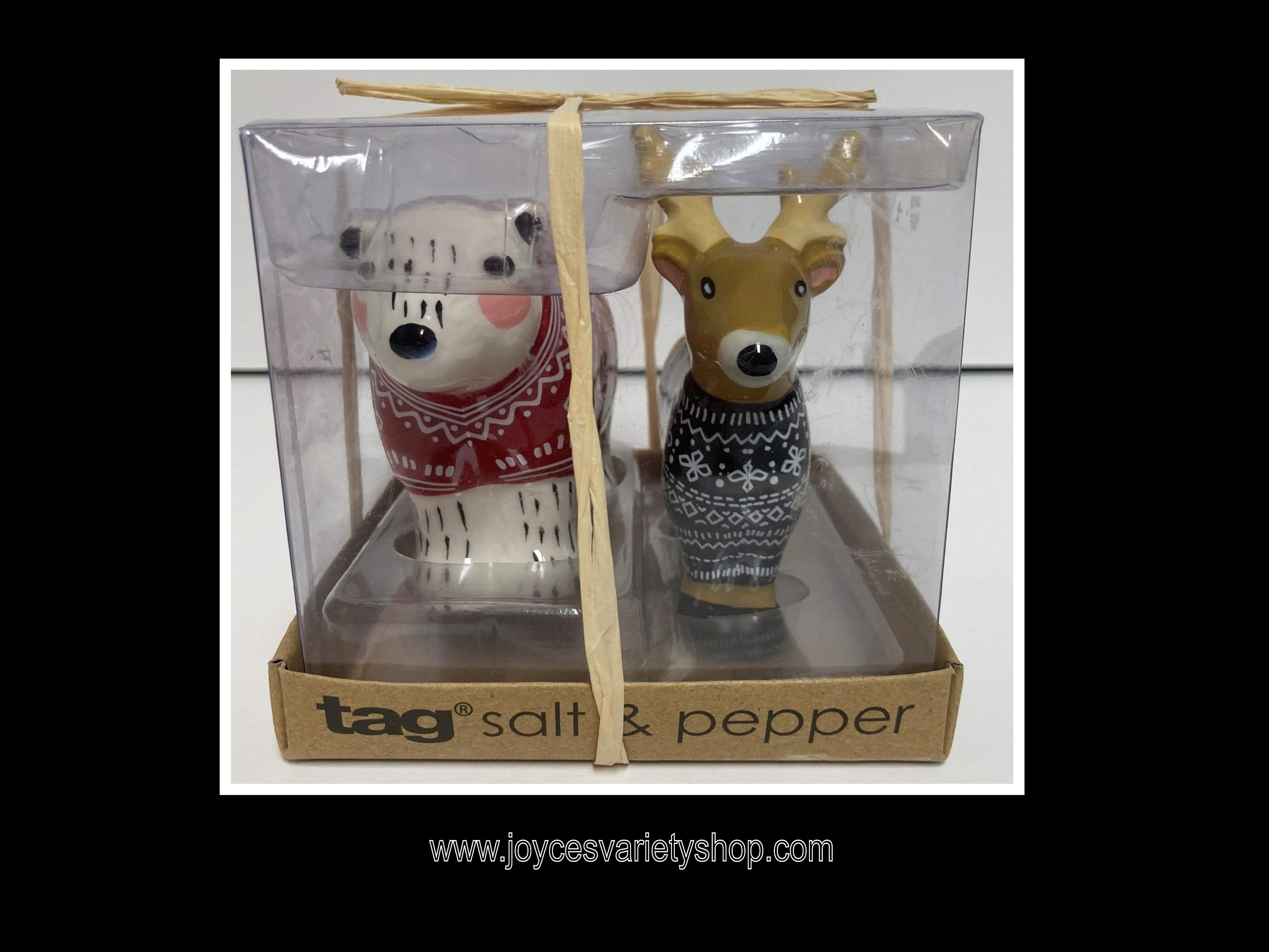 TAG Polar Bear & Caribou Reindeer Salt & Pepper Shaker Set