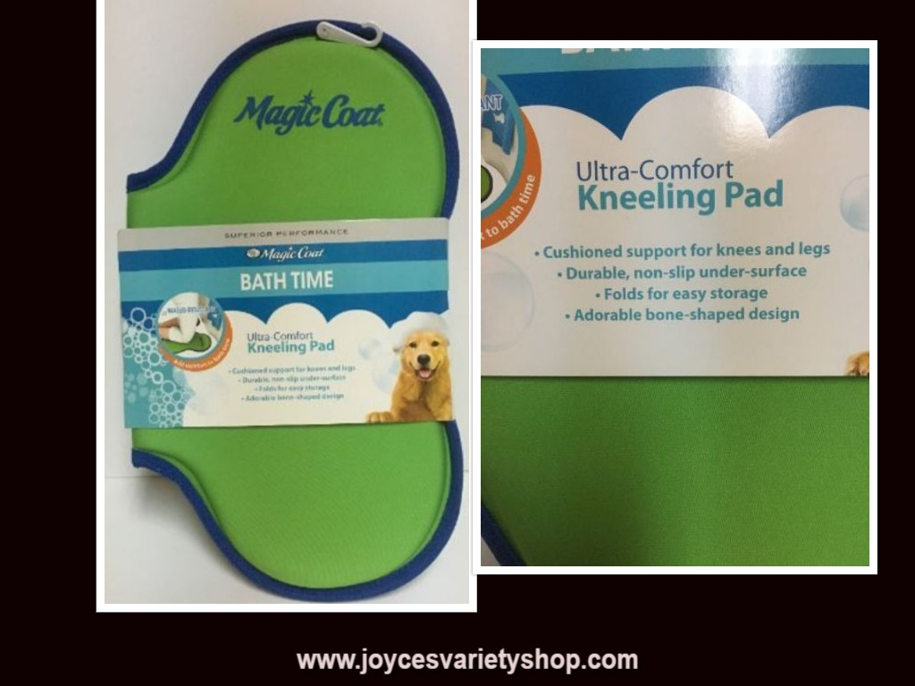 "Magic Coat Dog Bath Kneeling Pad Cushion 18"" x 16"" Green & Blue"