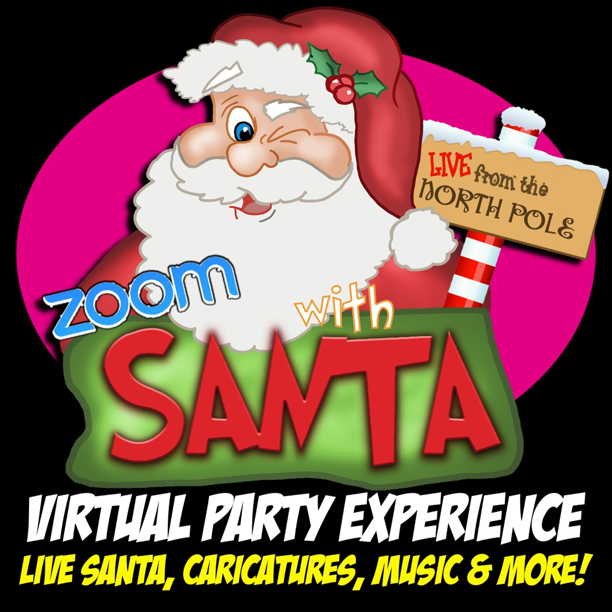 Zoom with Santa, Virtual Santa, Zoom Santa, Zoom Holiday Party, Skype with Santa, Virtual Holiday Party, Zoom Party Ideas