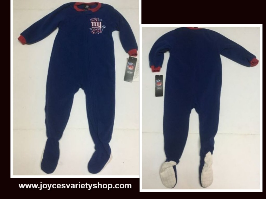 New York NFL Boy's Footed Sleeper One Piece SZ 24 Months