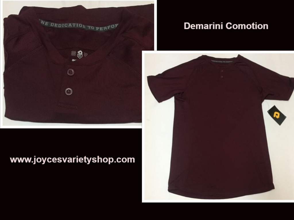 DeMarini Sports Comotion Performance Shirt Men's Sz L Maroon