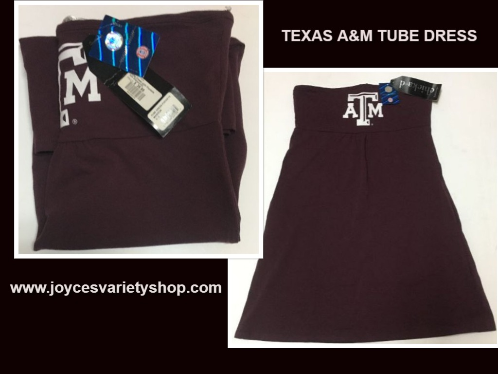 Texas A&M University Halter Tube Dress w/Pockets ChicaD SZ XL