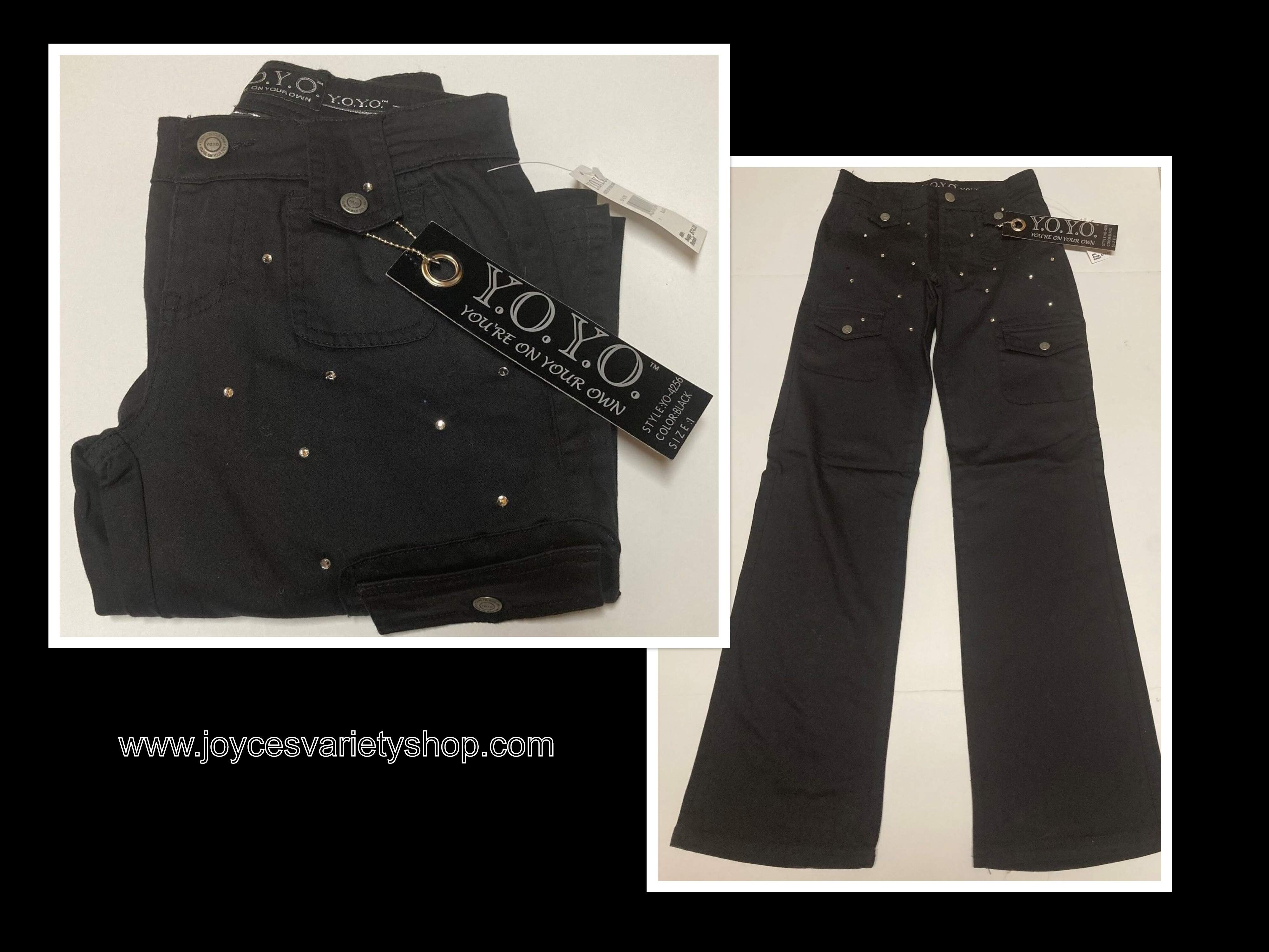 Y.O.Y.O (Your On Your Own) Black Jeans Indigo Stretch Design Various Sizes