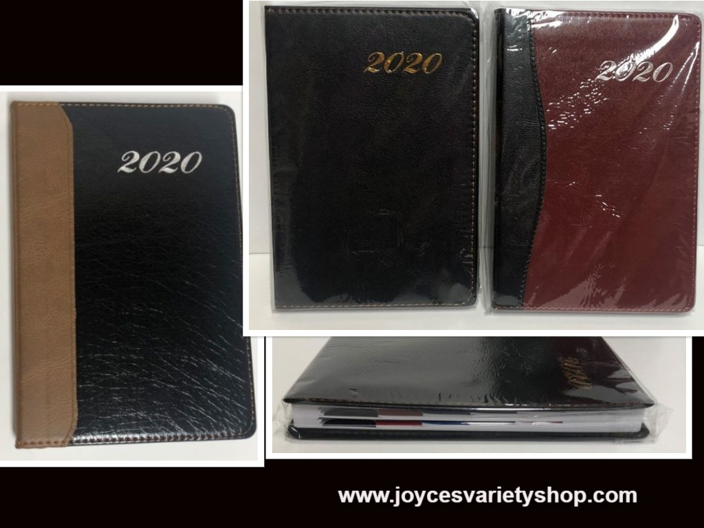 2020 Daily Monthly Planner Notes Dates Schedule Faux Leather Color Variety
