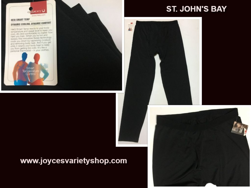 St. John's Bay HEIQ Smart Temp Thermo Underpants Sz L Black