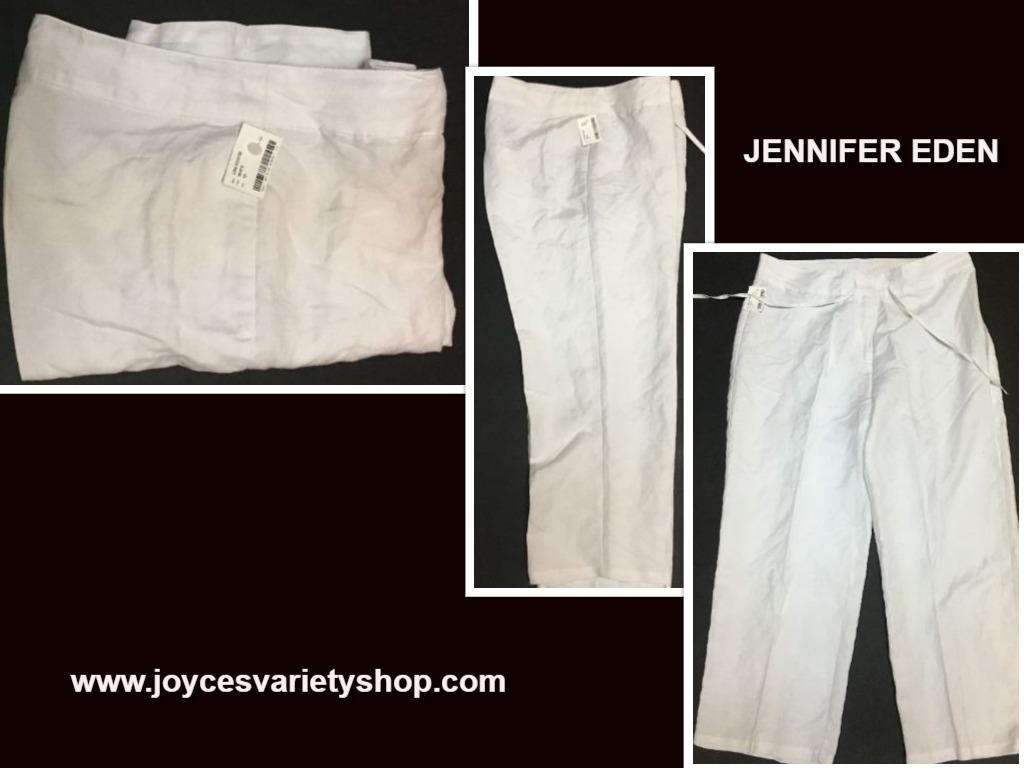 Jennifer Eden White Capri Sz 10 Relaxed Casual