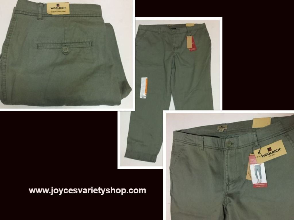 Woolrich Sunday Chino Pants Sz 12 Sage Green
