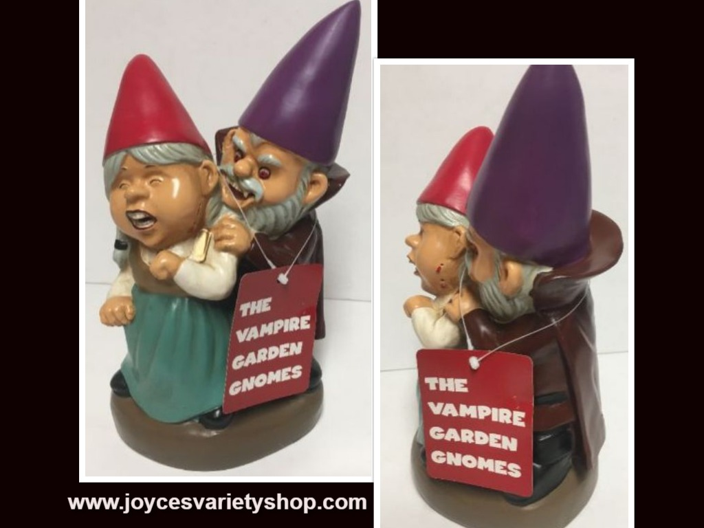 "Vampire Gnome 12"" Statue Scary Halloween Novelty Garden Decor"