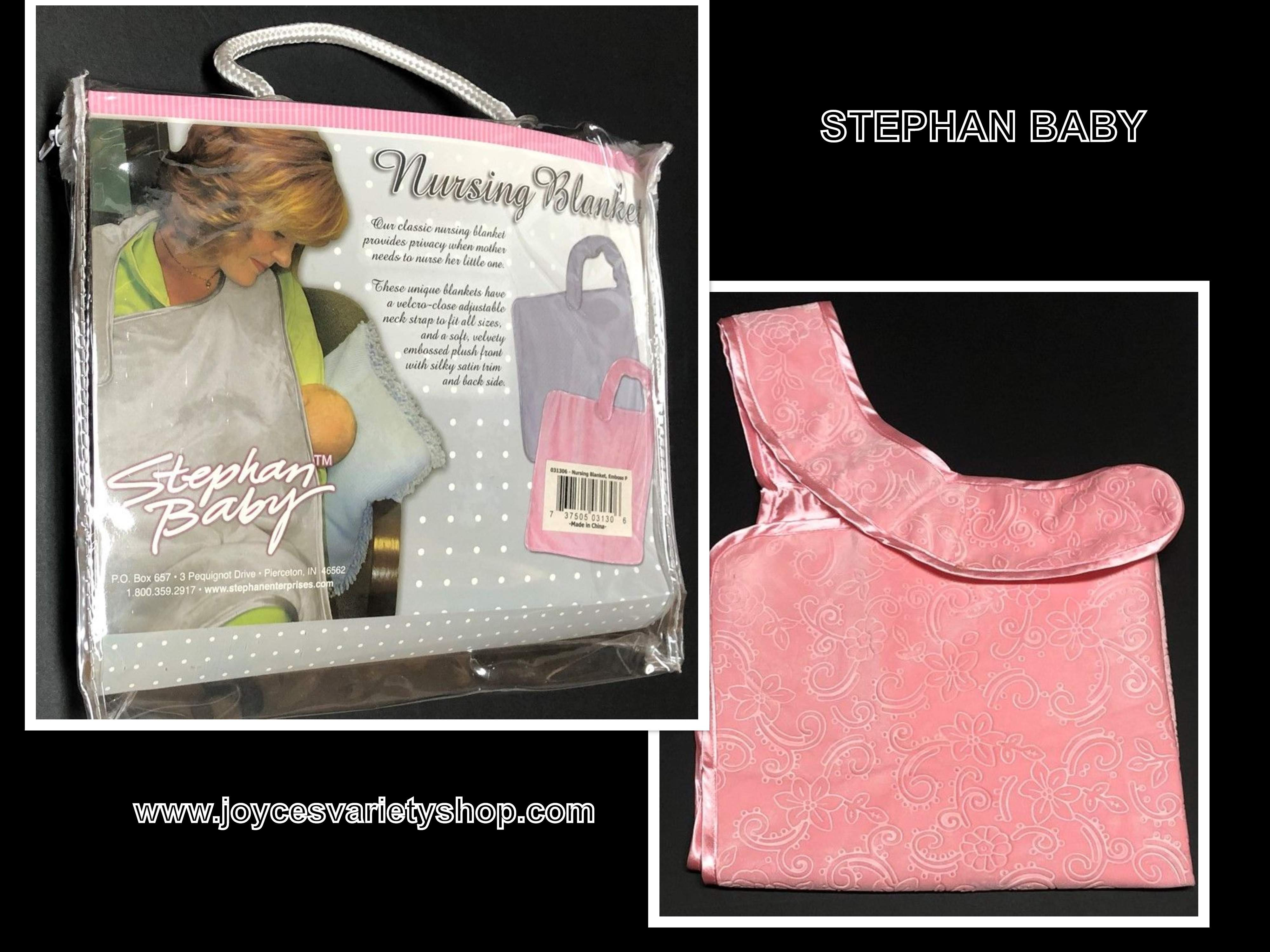 Stephan Baby Mother's Nursing Blanket Coral Pink EZ Adjustable Strap Plush Soft