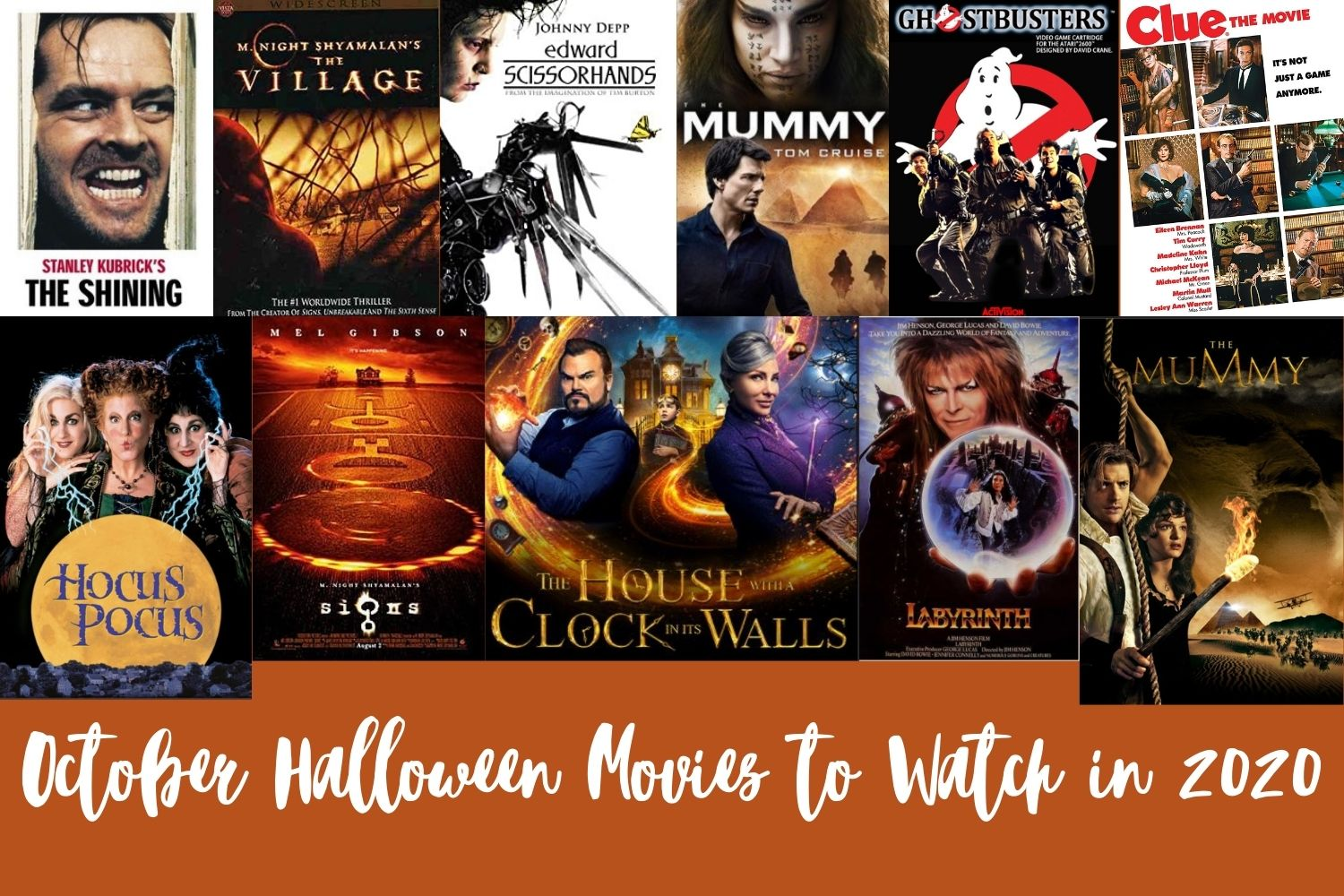 Halloween Movies to Watch in 2020