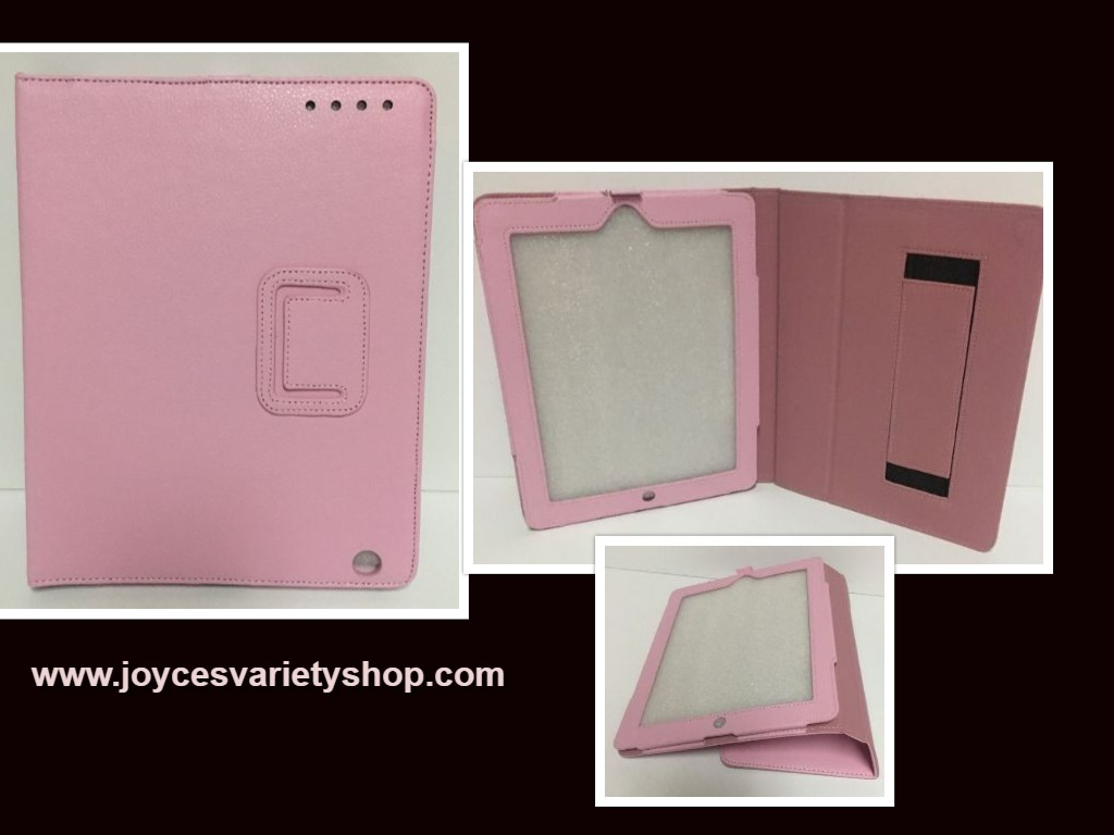 "Tablet Reader iPad Protection Case Pink 9"" x 6"" Screen Faux Leather"