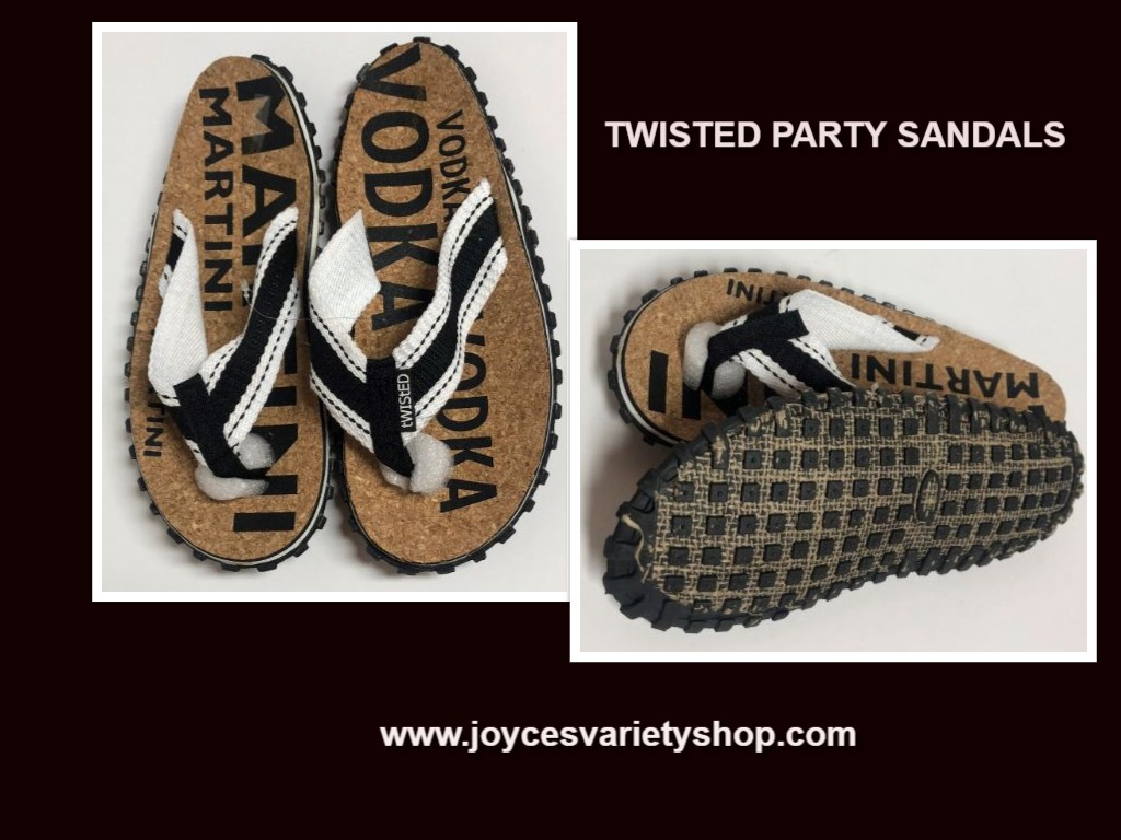 Twisted Party Sandals Shoes Vodka Martini Unisex Various Sizes