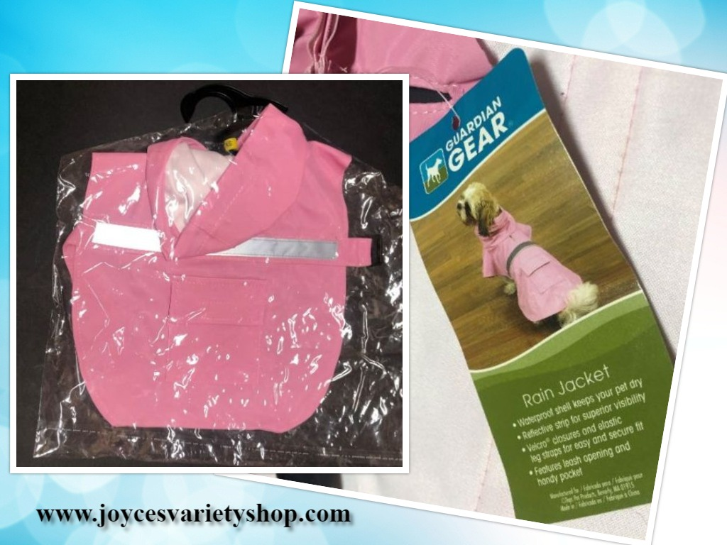 Guardian Gear Dog Rain Coat Jacket Pink Various Sizes Hoodie Pocket