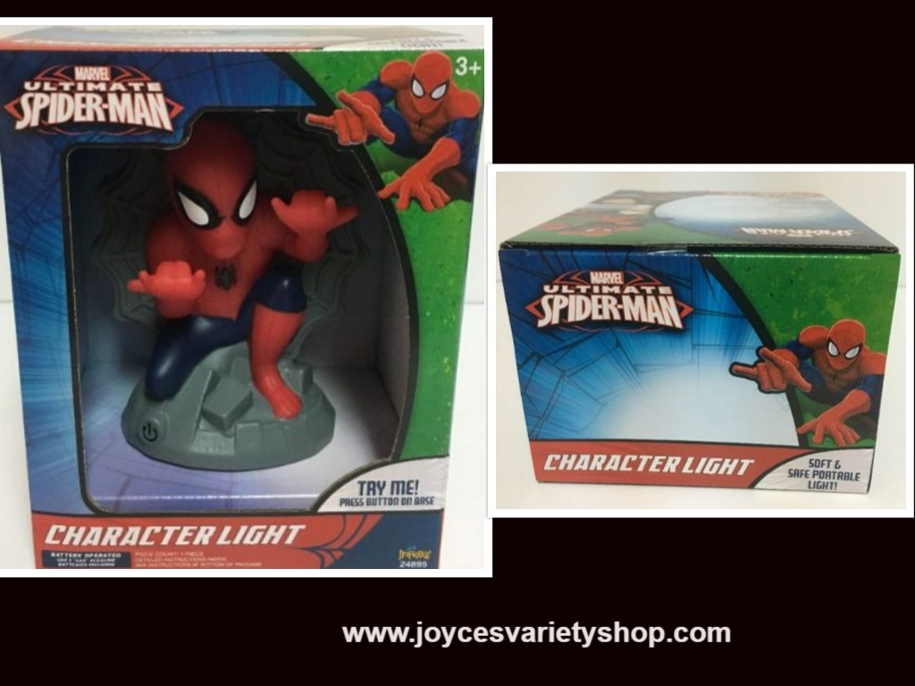 Spiderman Character Light Kid's Portable Light 3 Settings Battery Operated