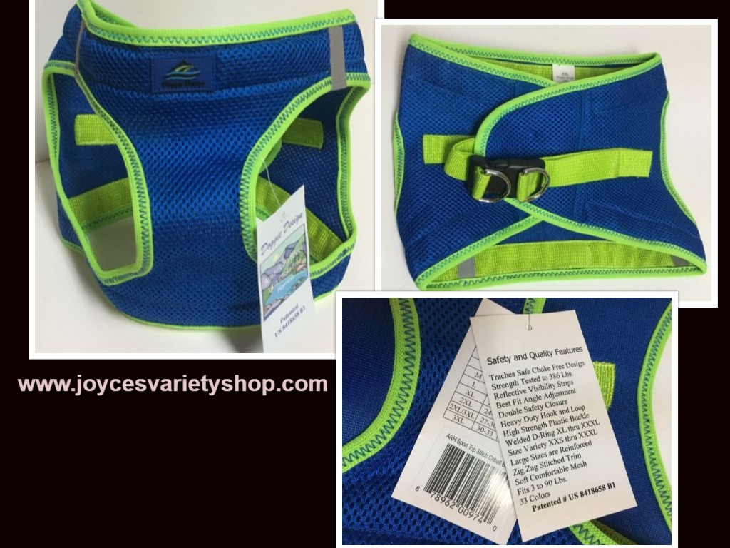 Doggie Design Ultra Choke Free Harness XXL Dog Sport Top Cobalt Blue