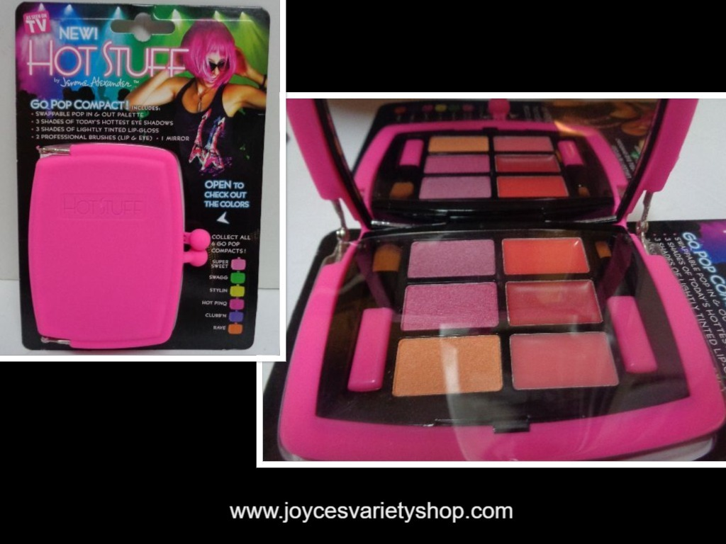 Hot Stuff Eye Shadow Lip Gloss Compact NWT Fuschia Pink Case