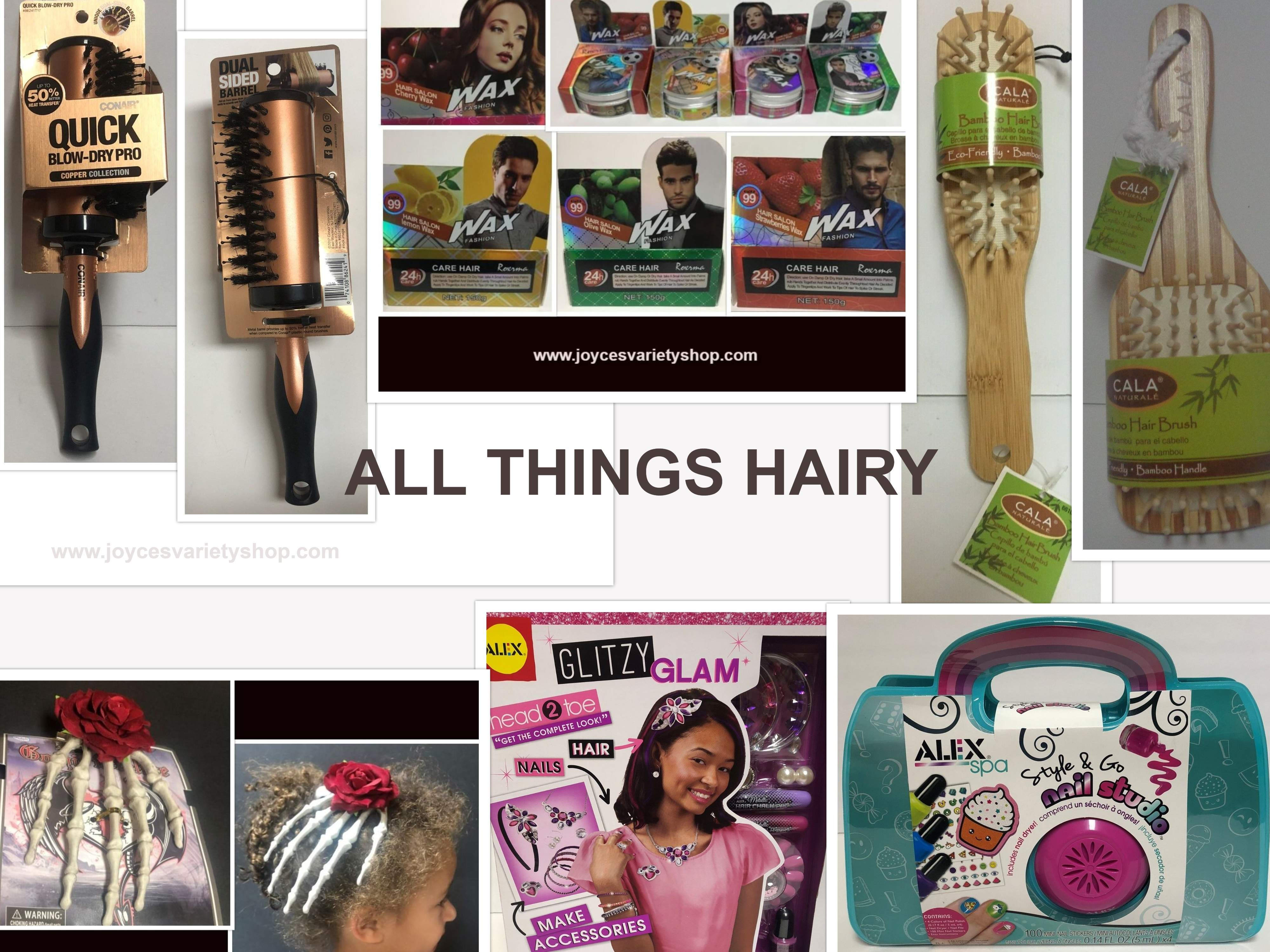 Conair Cala Bamboo Brushes Hair Accessories Wax Girls Alex Glam